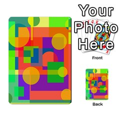 Colorful Geometrical Design Multi Purpose Cards (rectangle)  by Valentinaart