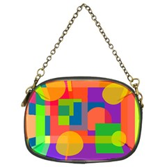 Colorful Geometrical Design Chain Purses (two Sides)  by Valentinaart