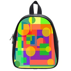Colorful Geometrical Design School Bags (small)  by Valentinaart
