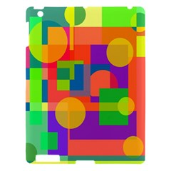 Colorful Geometrical Design Apple Ipad 3/4 Hardshell Case by Valentinaart