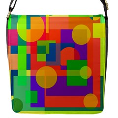 Colorful Geometrical Design Flap Messenger Bag (s) by Valentinaart