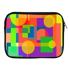 Colorful Geometrical Design Apple Ipad 2/3/4 Zipper Cases by Valentinaart