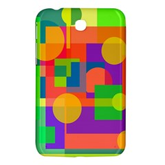 Colorful Geometrical Design Samsung Galaxy Tab 3 (7 ) P3200 Hardshell Case  by Valentinaart