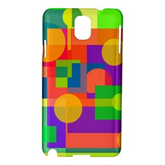 Colorful Geometrical Design Samsung Galaxy Note 3 N9005 Hardshell Case by Valentinaart