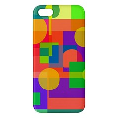 Colorful Geometrical Design Iphone 5s/ Se Premium Hardshell Case by Valentinaart
