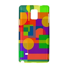 Colorful Geometrical Design Samsung Galaxy Note 4 Hardshell Case by Valentinaart