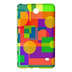 Colorful Geometrical Design Samsung Galaxy Tab 4 (8 ) Hardshell Case  by Valentinaart