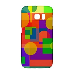 Colorful Geometrical Design Galaxy S6 Edge by Valentinaart