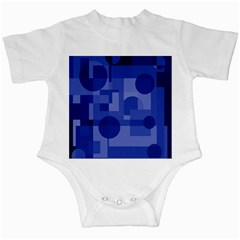 Deep Blue Abstract Design Infant Creepers by Valentinaart