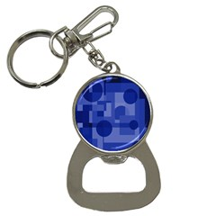 Deep Blue Abstract Design Bottle Opener Key Chains by Valentinaart