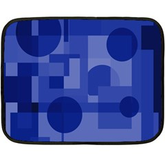 Deep Blue Abstract Design Double Sided Fleece Blanket (mini)  by Valentinaart