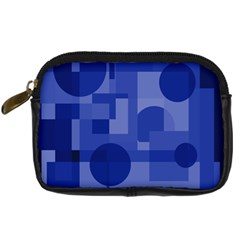 Deep Blue Abstract Design Digital Camera Cases by Valentinaart
