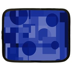 Deep Blue Abstract Design Netbook Case (xxl)  by Valentinaart
