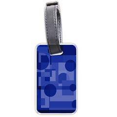 Deep Blue Abstract Design Luggage Tags (two Sides) by Valentinaart