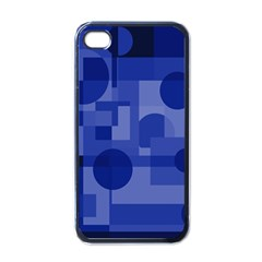 Deep Blue Abstract Design Apple Iphone 4 Case (black) by Valentinaart