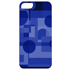 Deep Blue Abstract Design Apple Iphone 5 Classic Hardshell Case by Valentinaart