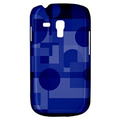 Deep Blue Abstract Design Samsung Galaxy S3 Mini I8190 Hardshell Case by Valentinaart