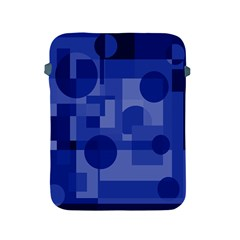 Deep Blue Abstract Design Apple Ipad 2/3/4 Protective Soft Cases by Valentinaart