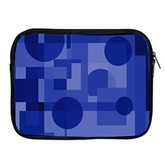 Deep Blue Abstract Design Apple Ipad 2/3/4 Zipper Cases by Valentinaart