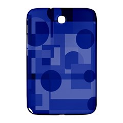 Deep Blue Abstract Design Samsung Galaxy Note 8 0 N5100 Hardshell Case  by Valentinaart