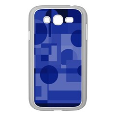 Deep Blue Abstract Design Samsung Galaxy Grand Duos I9082 Case (white) by Valentinaart
