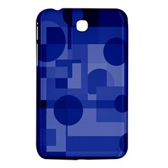 Deep Blue Abstract Design Samsung Galaxy Tab 3 (7 ) P3200 Hardshell Case  by Valentinaart