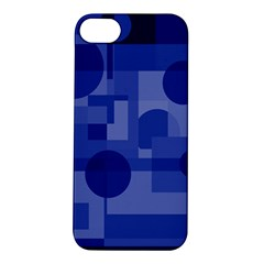 Deep Blue Abstract Design Apple Iphone 5s/ Se Hardshell Case by Valentinaart