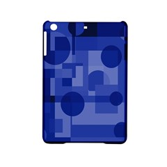 Deep Blue Abstract Design Ipad Mini 2 Hardshell Cases by Valentinaart