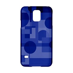Deep Blue Abstract Design Samsung Galaxy S5 Hardshell Case  by Valentinaart