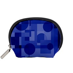 Deep Blue Abstract Design Accessory Pouches (small)  by Valentinaart
