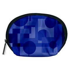 Deep Blue Abstract Design Accessory Pouches (medium)  by Valentinaart