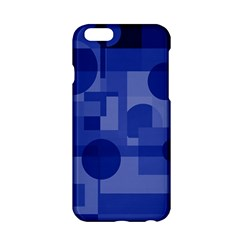 Deep Blue Abstract Design Apple Iphone 6/6s Hardshell Case by Valentinaart