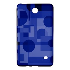 Deep Blue Abstract Design Samsung Galaxy Tab 4 (7 ) Hardshell Case  by Valentinaart