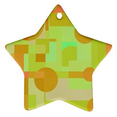 Green And Orange Decorative Design Ornament (star)  by Valentinaart