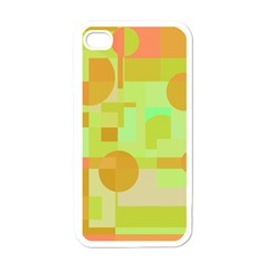 Green And Orange Decorative Design Apple Iphone 4 Case (white) by Valentinaart