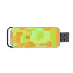 Green And Orange Decorative Design Portable Usb Flash (one Side) by Valentinaart