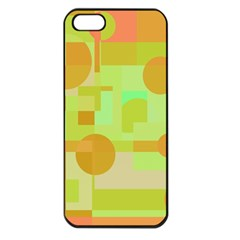 Green And Orange Decorative Design Apple Iphone 5 Seamless Case (black) by Valentinaart