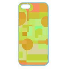 Green And Orange Decorative Design Apple Seamless Iphone 5 Case (color) by Valentinaart