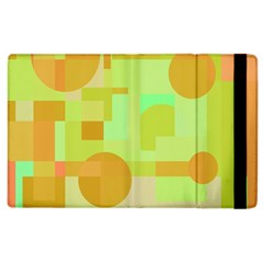 Green And Orange Decorative Design Apple Ipad 2 Flip Case by Valentinaart