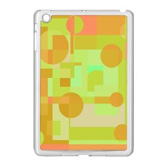 Green And Orange Decorative Design Apple Ipad Mini Case (white) by Valentinaart