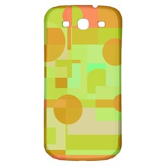 Green And Orange Decorative Design Samsung Galaxy S3 S Iii Classic Hardshell Back Case by Valentinaart