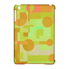 Green And Orange Decorative Design Apple Ipad Mini Hardshell Case (compatible With Smart Cover) by Valentinaart