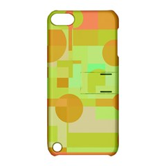 Green And Orange Decorative Design Apple Ipod Touch 5 Hardshell Case With Stand by Valentinaart