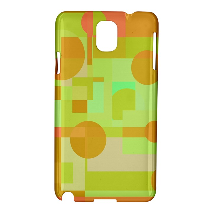 Green and orange decorative design Samsung Galaxy Note 3 N9005 Hardshell Case
