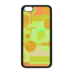 Green And Orange Decorative Design Apple Iphone 5c Seamless Case (black) by Valentinaart