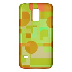 Green And Orange Decorative Design Galaxy S5 Mini by Valentinaart