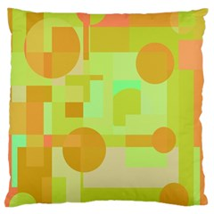 Green And Orange Decorative Design Large Flano Cushion Case (two Sides) by Valentinaart