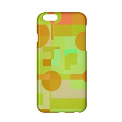 Green And Orange Decorative Design Apple Iphone 6/6s Hardshell Case by Valentinaart