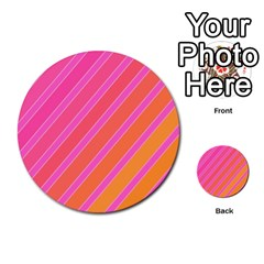Pink Elegant Lines Multi Purpose Cards (round)