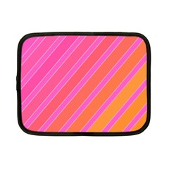 Pink Elegant Lines Netbook Case (small)  by Valentinaart